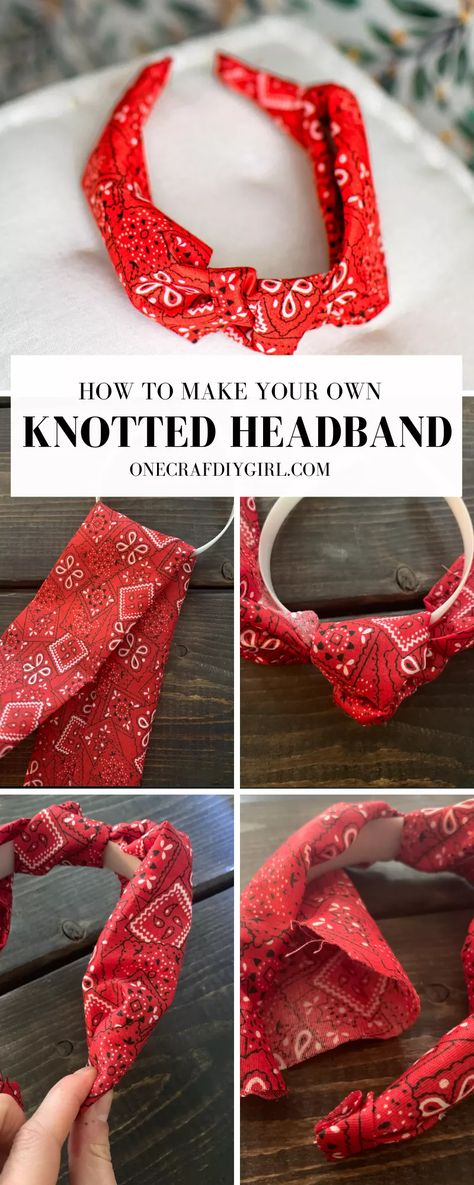 Knotted Headband Tutorial - One CrafDIY Girl