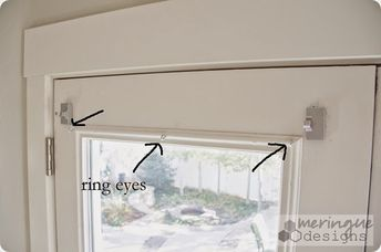 Magnetic Curtain Rods For French Doors How To Sew Roman Shades For French Doors French Door Window Treatments Shades For French Doors French Door Coverings