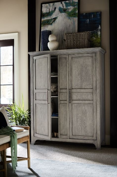 Make a gorgeous new addition to your home while also conveniently storing your belongings with this coastal wide utility cabinet. Whether it is used for your clothes, books, or any other items, this stylish and equally practical utility cabinet livens up any room with a coastal flair.