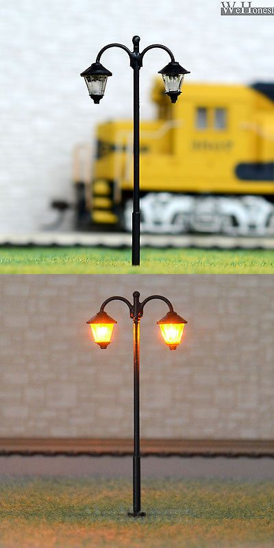 10 Pcs Ho Scale Lamppost Cold Led Street Light No Hot Melt Long Life Lamp 1713 Ebay Street Light Lamp Post Led Street Lights