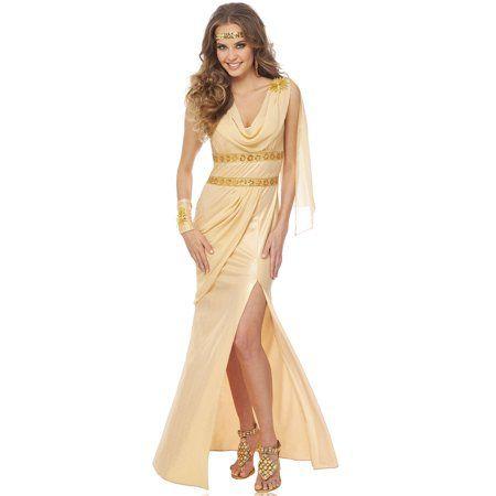 e2c74032df Free Shipping. Buy Sun Goddess Womens Roman Greek Gold Toga Adult ...
