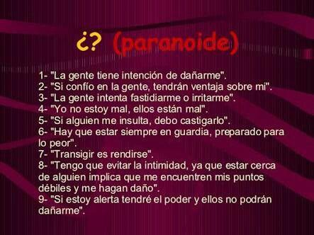 Algunas Frases De Las Personas Con Trastorno De Paranoide
