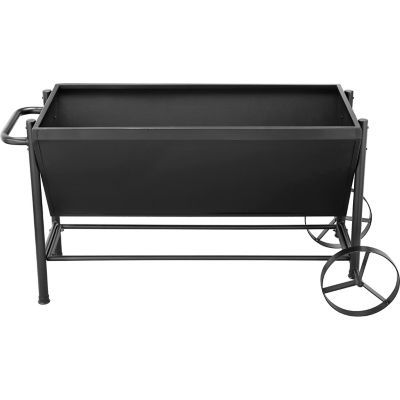 Groundwork 49 In X 23 In Metal Rolling Planter Heavy Duty Iron Planter Is So Pretty And Means No Patio Furnishings Tractor Supplies Patio Furniture Layout