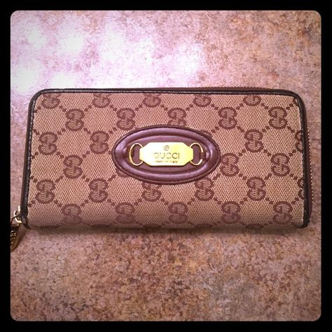 Gucci wallet Good wallet. Some wear and tear on the sides of it. Gucci Bags Wallets