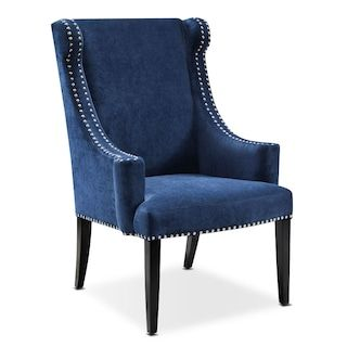 Delshire Accent Chair Blue Wingback Dining Chair Blue Armchair