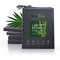 Anti Milben Deckenbezug 135x200 Lyocell bettw/äsche Luxus Bettw/äsche Bambus Super Atmungsaktiver Stoff Anthrazit Bambaw Deckenbezug aus Bambus Allergiker Deckenbezug