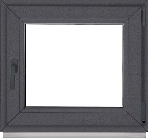 Kunststofffenster Fenster 2 Fach Verglasung Bxh 90x65 Cm Anthrazit Laminieren Fenster Kunststoff
