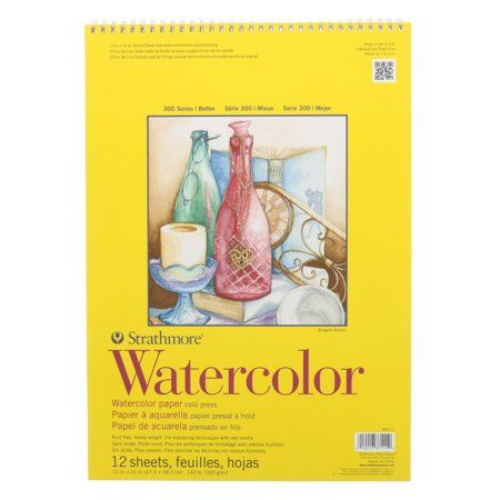 Strathmore Watercolor Paper Pad 300 Series 11in X 15in Tape