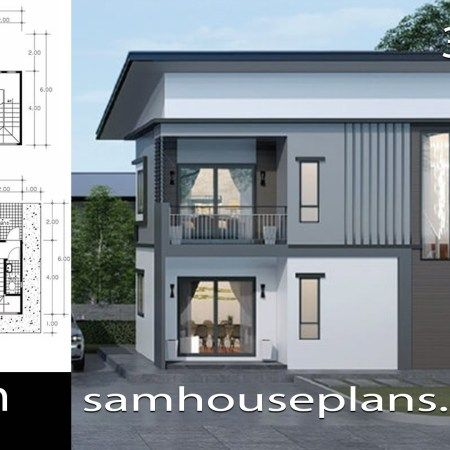 House Plans Idea 9x10m With 4 Bedrooms Sam House Plans House Plans New House Plans House Design