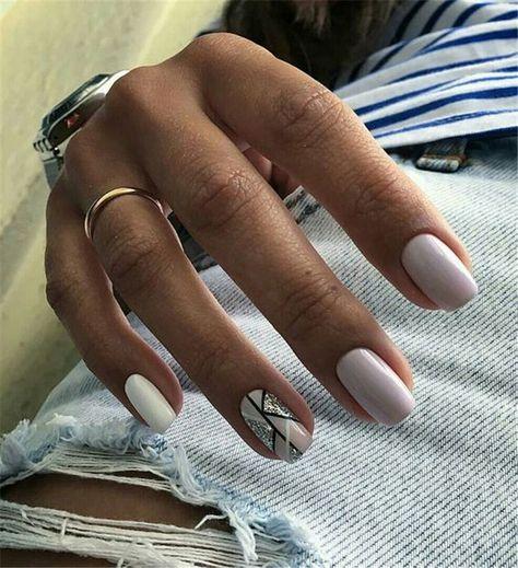 Long White Nails with Gemstone, White Nails, Gemstone Nails, Almond Nails, Nails Trend, Nails Art, Nails design, Nails Art, Nails acrylic, Nails winter;