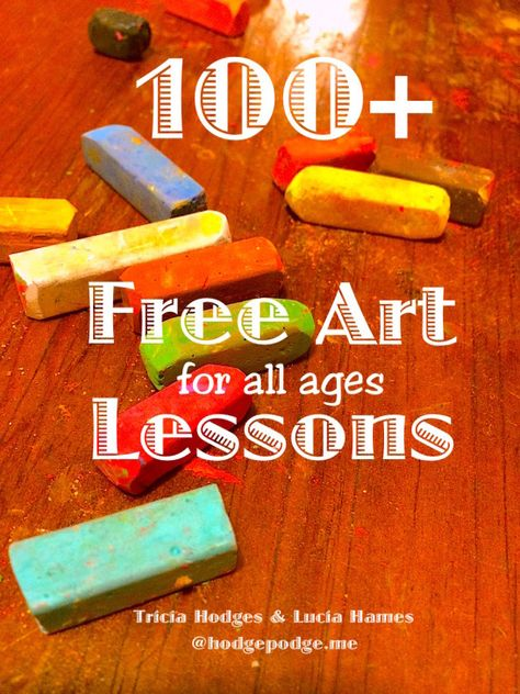 100+ FREE Chalk Art Lessons - You ARE an Artist! at Hodgepodge
