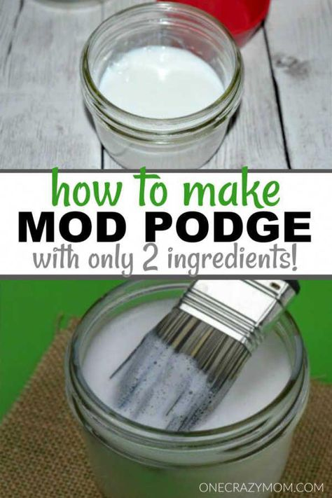 Homemade Mod Podge - How to make mod podge