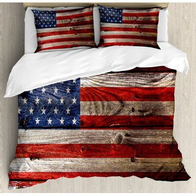 East Urban Home Ambesonne Usa Duvet Cover Set Fourth Of July