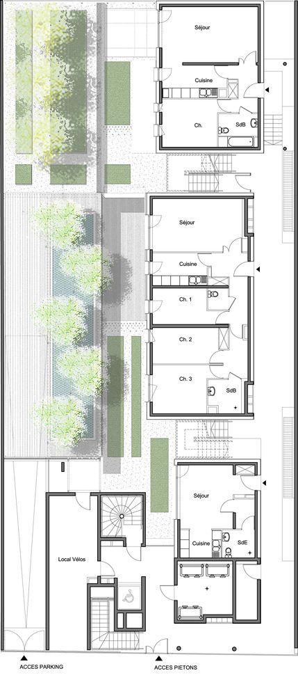 Les 188 Meilleures Images Du Tableau Architecture_Plan Sur Pinterest