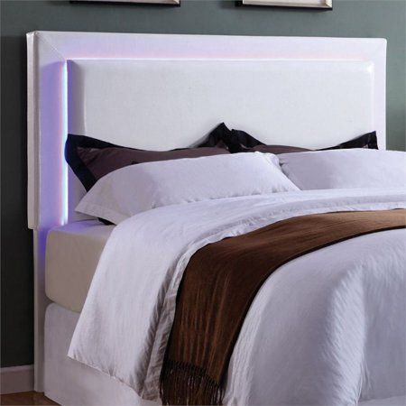 Zen White Bed With Led Lights In 2020 Bed With Led Lights