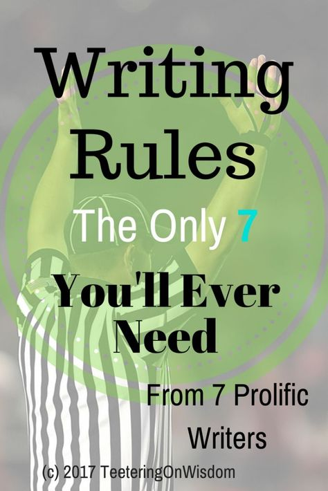 Everyone has something to say about writing. I started cross-referencing each and found that 7 prolific writers agree on these 7 rules every time. Creative Writing Tips, Book Writing Tips, English Writing Skills, Writing Words, Writing Quotes, Writing Resources, Writing Help, Writing Prompts, Writing Genres