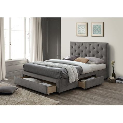Kingsview Upholstered Storage Bed In 2020 With Images
