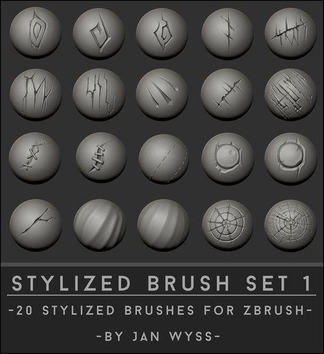 Orb-brushes Pack for Zbrush