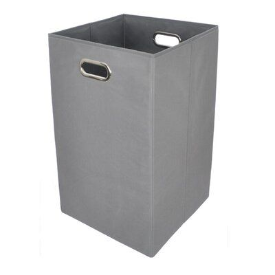 Wrought Studio Folding Laundry Hamper Colour Grey Folding