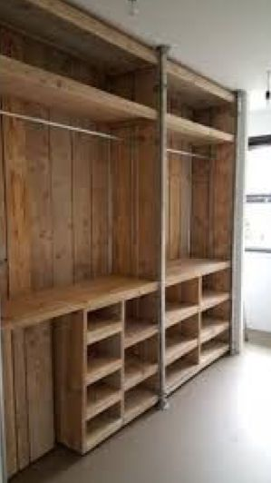 Pin By Ana Maria On Puertas Interiores Pallet Patio Furniture Diy Pallet Furniture Pallet Wardrobe