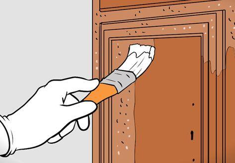 Holz Abbeizen Farbe Auftragen Anleitung Obi Abbeizen Alte Tur Hausturen Holz