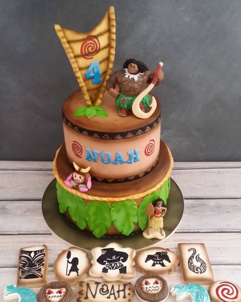 Sugar Ranch Cookies Cakes On Instagram Moana Cake Cookies Ft