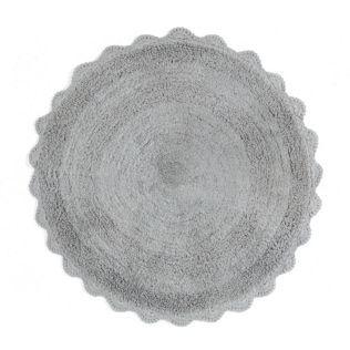 Tapis de bain rond gris Gris - Felicia - Les tapis de bain ...