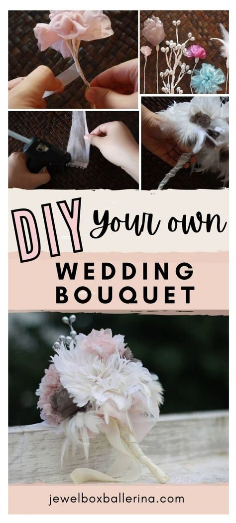 Make your own handmade flower wedding bouquet to add a special and more memorable touch for your wedding. This tutorial will give you the step by step process on how to make a beautiful bidal bouquet that you can preserve for a long time. #weddingbouquettutorial #diywedding #diyweddingbouquet #bridalbouquet #diybouquet #diyflowers #handmadeflowers #diybride #fabricflowers #winterwedding