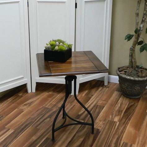 Morgan Chestnut Black Adjule End Table Top Adjusts From 20 Inches To 28 High Dimensions X 18
