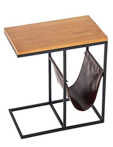 Wrought Iron Coffee Table Small Coffee Table Solid Wood Tabletop
