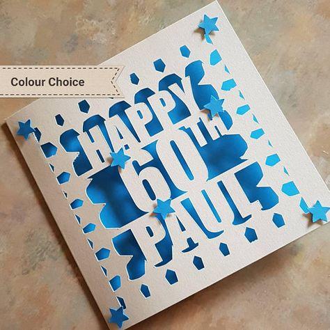 Handmade Birthday Card Dad Grandad Uncle Son 21st 30th 40th 50th 60th 70th 80th