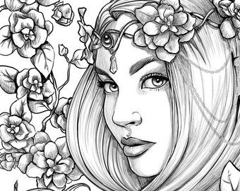elf queen coloring pages people  lautigamu
