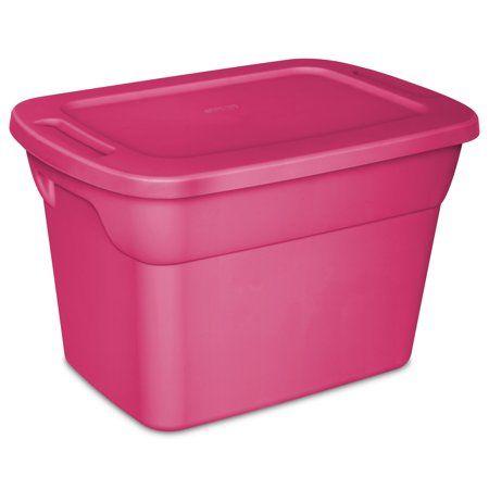 Sterilite 10 Gallon Fuchsia Burst Tote 9 Count Sterilite Plastic Storage Bins Storage Bins