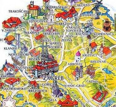 Zagreb Tourist Map Zagreb Travel Photos