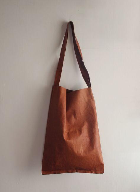 CLEARANCE: Leather tote bag. $90.00, via Etsy.