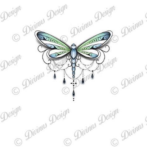 Dragonfly Tattoo and Stencil Instant Digital Download | Etsy