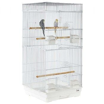 Jing Tall Flat Top Small Bird Cage Estrellas Animales