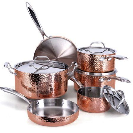 Home Cookware Set Pots Pans Sets Copper Cooking Pan