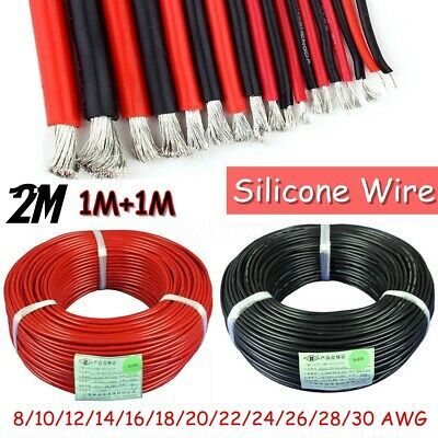 Ad Ebay 30awg 2awg Flexible Strand Silicone Wire 200 Tin Plated Copper Test Cable 2m In 2020 Wire Electrical Cables Wire Connectors