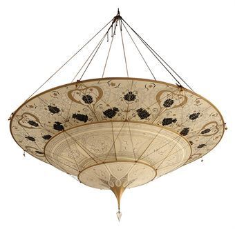 Fortuny Silk Lamp Fortuny Chandelier Fortuny Interiors Fortuny