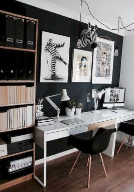Home Office Black Wall Decor Improves Your Look With These Tips In 2020 Modern Home Office Home Home Office Design
