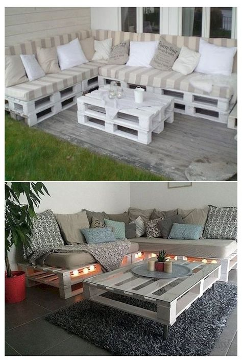 Palette Furniture, Pallet Furniture Designs, Pallet Garden Furniture, Diy Outdoor Furniture, Diy Furniture, Outdoor Decor, Pallet Designs, Furniture From Pallets, Rustic Furniture