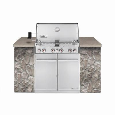 Weber Summit S 460 4 Burner Built In Stainless Steel Propane Gas Grill 7160001 At The Home Depot Natural Gas Grill Built In Grill Best Gas Grills