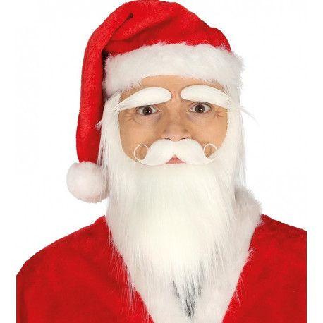 Barba Blanca Con Bigote Y Cejas De Papa Noel Comprar Barba Blanca Bigotes Papa Noel