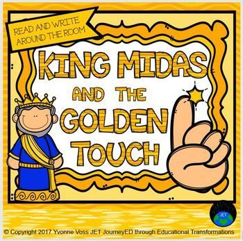 Differentiated Read And Write Around The Room King Midas And The