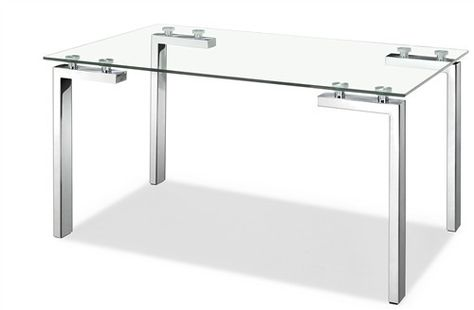 Executive Desk With Stainless Steel Frame And Glass Top Products
