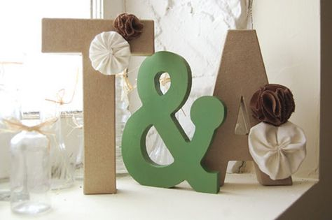DIY: Home Decor Letters | In Honor Of Design