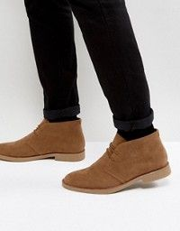 the best attitude select for official choose newest DESIGN Wide Fit desert boots in stone suede   Winter Wear ...