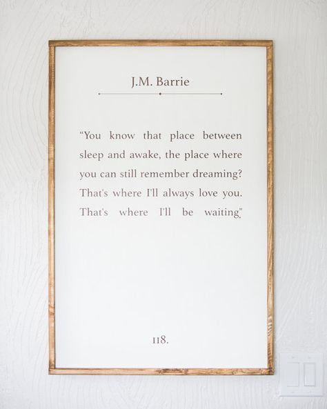 J.M. Barrie QuotePeter PanChildren's by Sophistiqa on Etsy