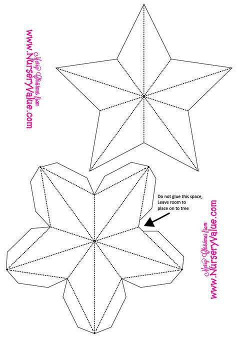 как сделать объемную звезду на открытку